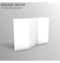 white mockup brochure 3d with shadow vector image