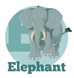 ABC Cartoon Elephant vector image vector image