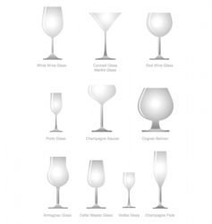 alcoholic glass vector image vector image