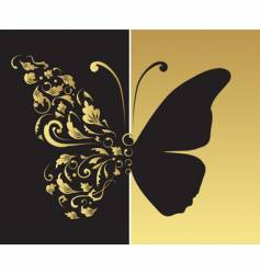 butterfly ornate for your design vector image