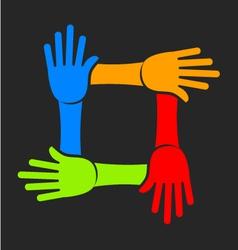 Four Hands Team Logo vector image