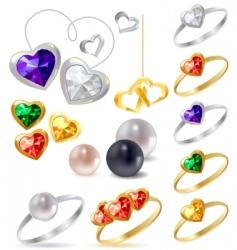 jewels vector image