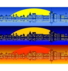 Landscape of city Set vector image vector image