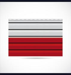 Poland siding produce company icon vector image