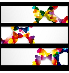 Abstract horizontal banner with forms of empty vector image