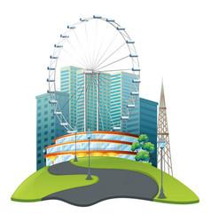 big ferris wheel in big park vector image vector image