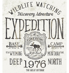 Lone Peak wild trail expedition vector image