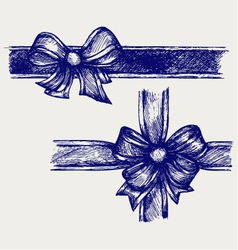 Ribbon with bow vector image vector image