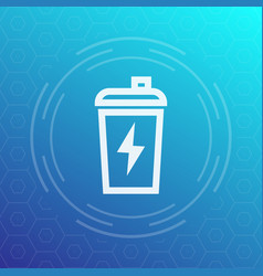 sport shaker line icon vector image vector image