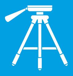 tripod icon white vector image