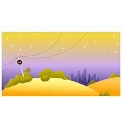 Arrow sign post skyline vector image