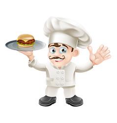 cheeseburger chef vector image