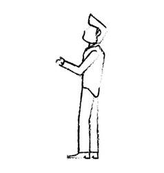 portrait groom wedding sketch vector image vector image