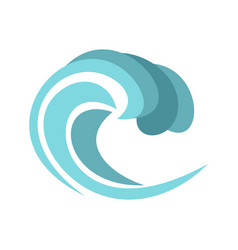round wave icon cartoon style vector image vector image
