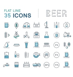 Set Line Icons Beer vector image vector image