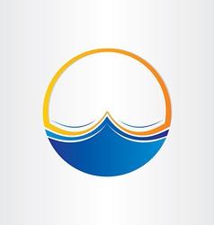 water waves symbol design element vector image