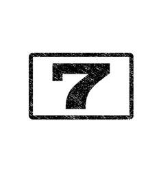 7 watermark stamp vector image