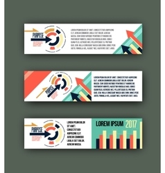 abstract corporate business banner template vector image