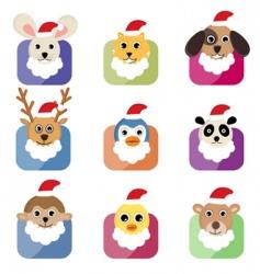 Christmas animals vector image vector image