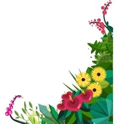 flat floral frame Home Plants frame vector image vector image