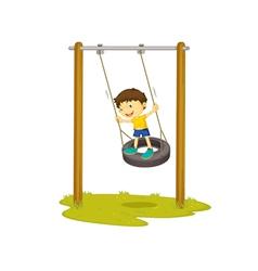 Tyre swing vector image vector image