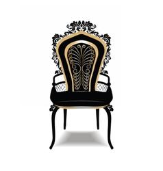 Vintage Baroque Golden Chair vector image