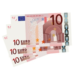 10 Euro bills vector image