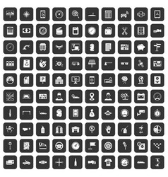 100 auto repair icons set black vector image