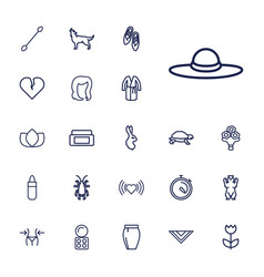 22 beautiful icons vector