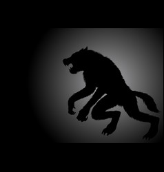 a werewolf lurking in the dark vector image
