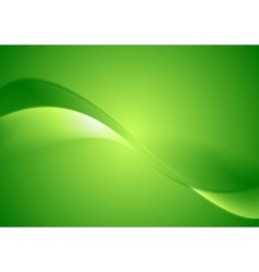 Abstract green smooth waves background vector