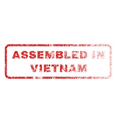 Assembled in vietnam rubber stamp vector