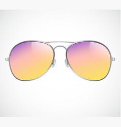 Aviator sunglasses background sunset vector