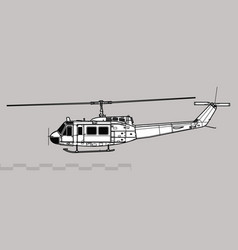 bell uh-1d iroquois vector image
