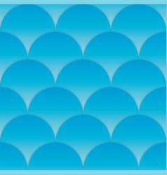 blue cut wave seamless pattern sea background vector image