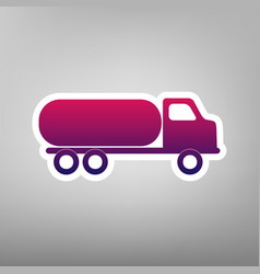 Car transports sign purple gradient icon vector
