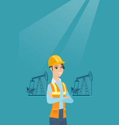 Cnfident oil worker vector
