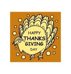 Collection thanksgiving card vector