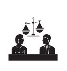court black concept icon court flat vector image