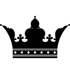 Crown silhouette vector