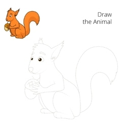 Draw the forest animal squirrel cartoon vector image vector image