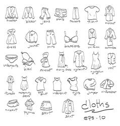 dressing cloth icon set vector image