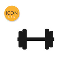 dumbbell icon isolated flat style vector image