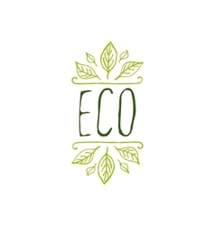 Eco product label on white background vector image