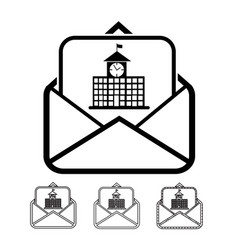 email and mail icon vector image