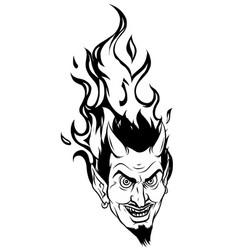 evil burning halloween symbol vector image