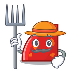 farmer quadrant character cartoon style vector image