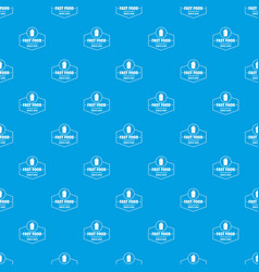 fast food pattern seamless blue vector image
