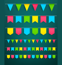festival flag garlands set for celebration vector image