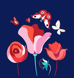 festive flower card vector image
